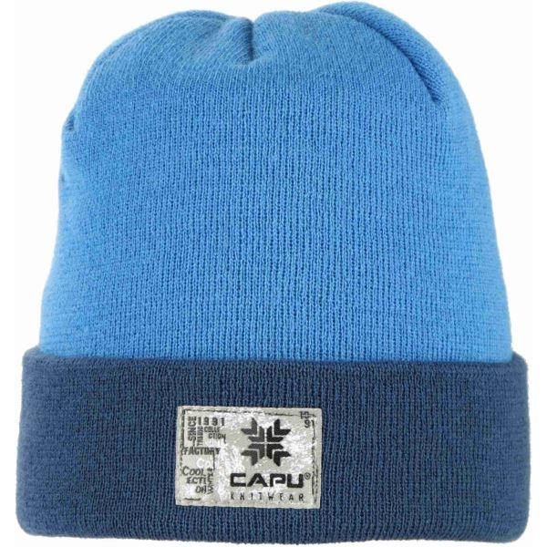 Pánská zimní čepice CAPU 1704 světle modrá