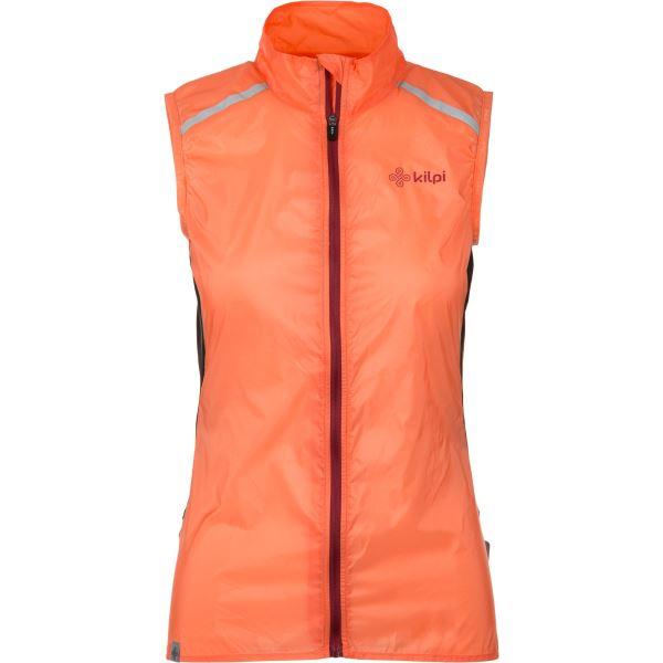 Dámská ultralehká vesta KILPI FLOW-W oranžová