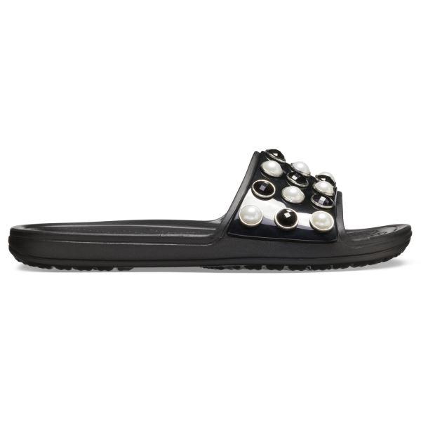Dámské pantofle Crocs SLOANE Timeless Pearl Slide černá