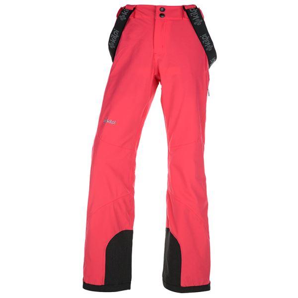 Dámské zimní technické kalhoty KILPI EUROPA-W růžová (nadměrná velikost)