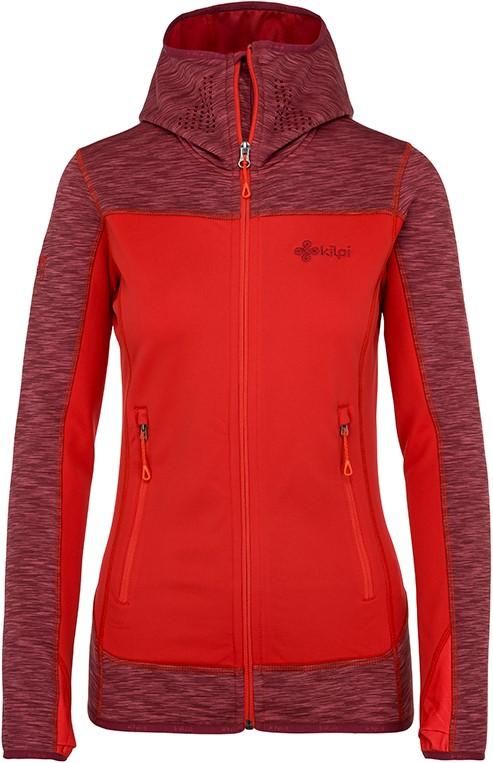 Dámská fleecová mikina KILPI ASSASIN-W tmavě červená (nadměrná velikost) 90e73cd285