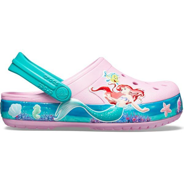Dětské boty Crocs CROCBAND PRINCESS ARIEL Glogs světle růžová