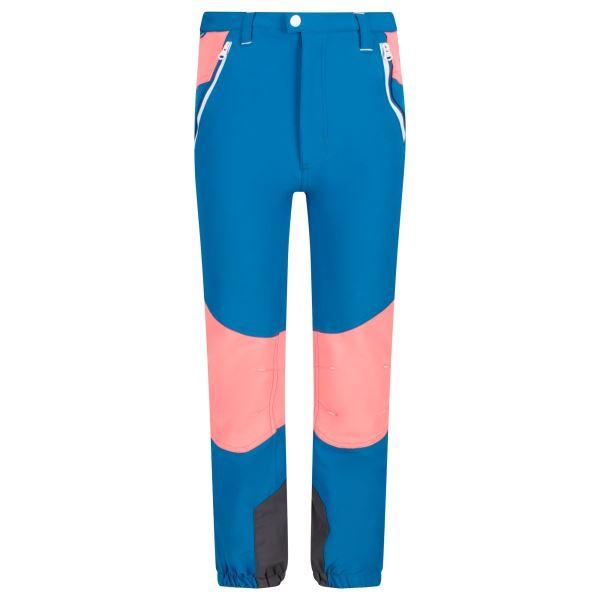 Dětské kalhoty Regatta TECH MOUNTAIN petrolejová modrá/ohnivě růžová
