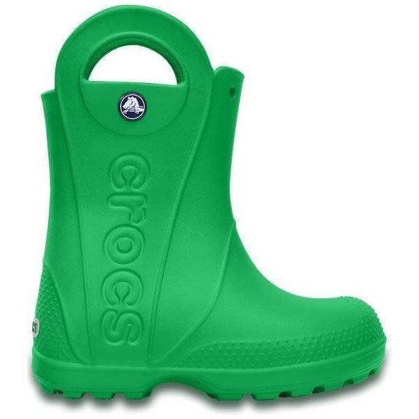 Dětské holínky Crocs HANDLE It Rain Boot zelená