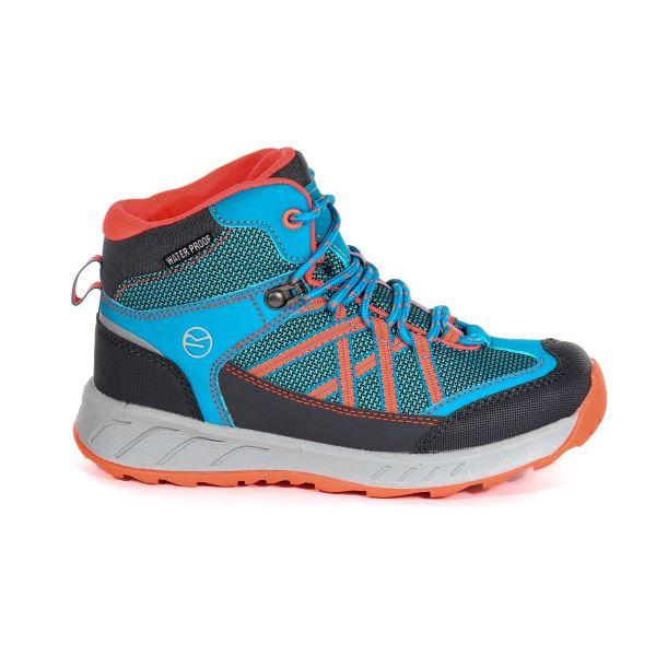 Dětské boty Regatta SAMARIS Jnr světle modrá/oranžová