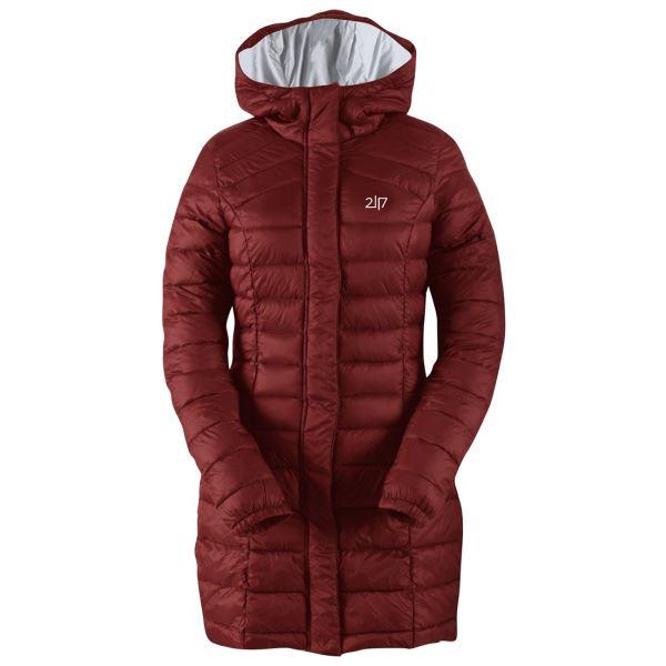 Dámský zimní kabát 2117 DALEN vínově červená