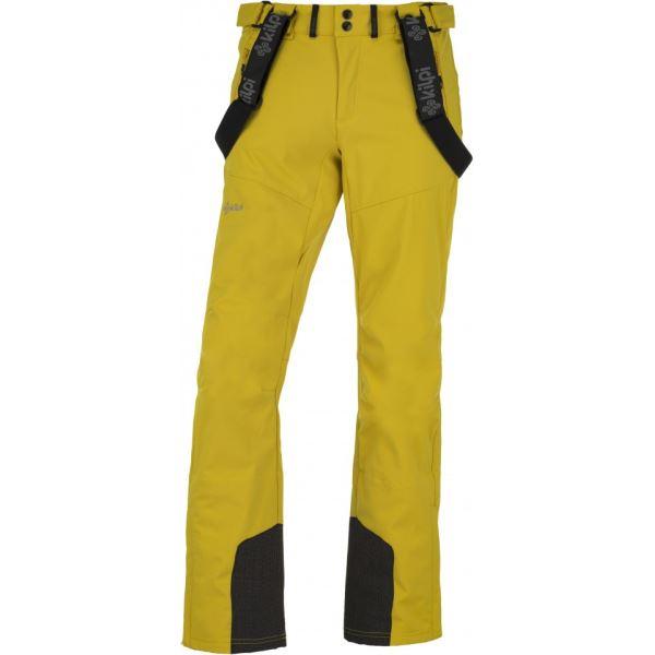 Pánské lyžařské softshellové kalhoty KILPI RHEA-M žlutá