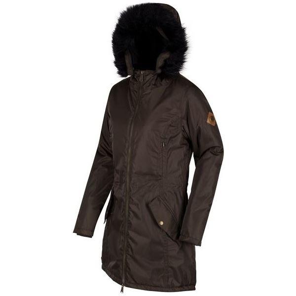 Dámský zimní kabát Regatta LUCETTA tmavá khaki