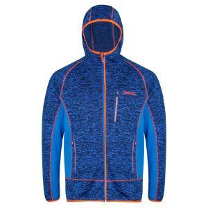 Pánská fleecová mikina Regatta CARTERSVILLE V modrá/oranžová