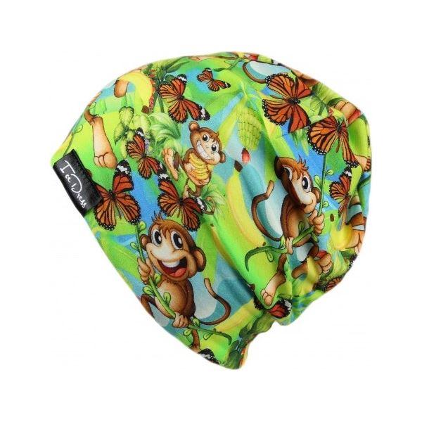 Dětská bavlněná čepice IceDress OPIČÁK zelená