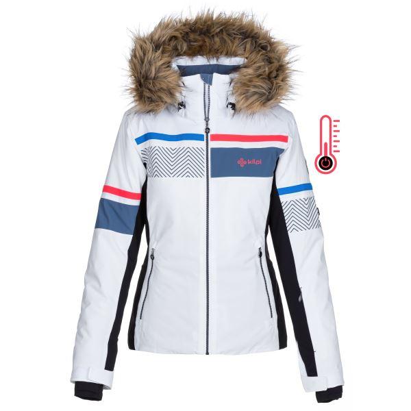 Dámská zimní lyžařská bunda KILPI ANIELA-W bílá