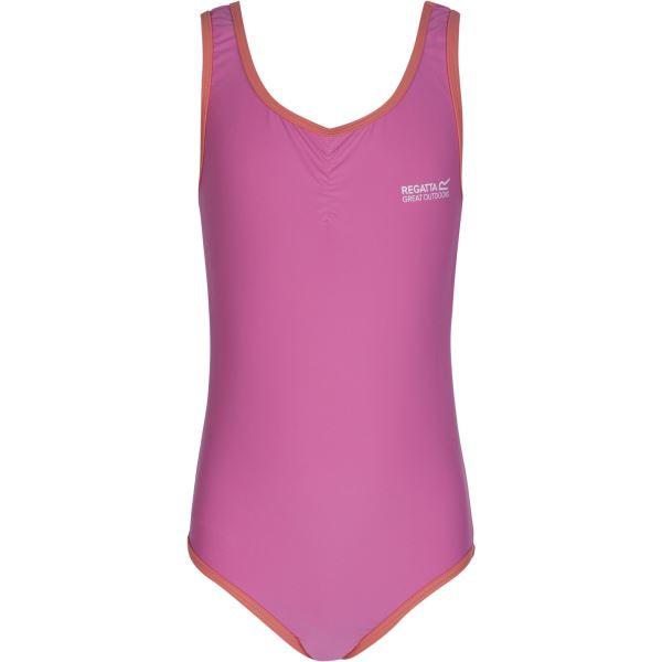 Dívčí jednodílné plavky Regatta DIVER růžová