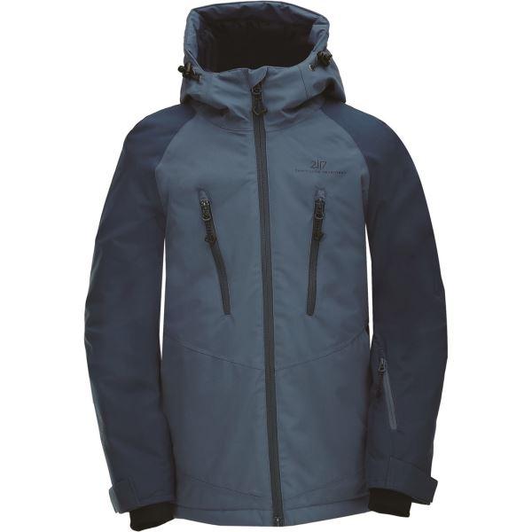 Dětská zimní lyžařská bunda 2117 LAMMHULT námořnicky modrá