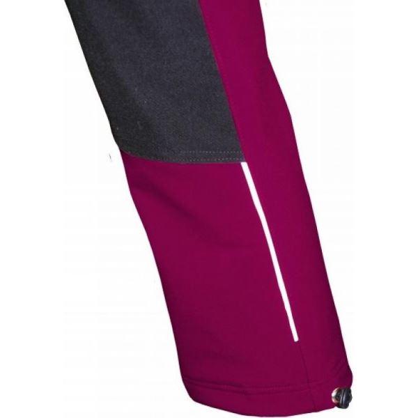 Dětské softshellové kalhoty Fantom s cordurou růžové