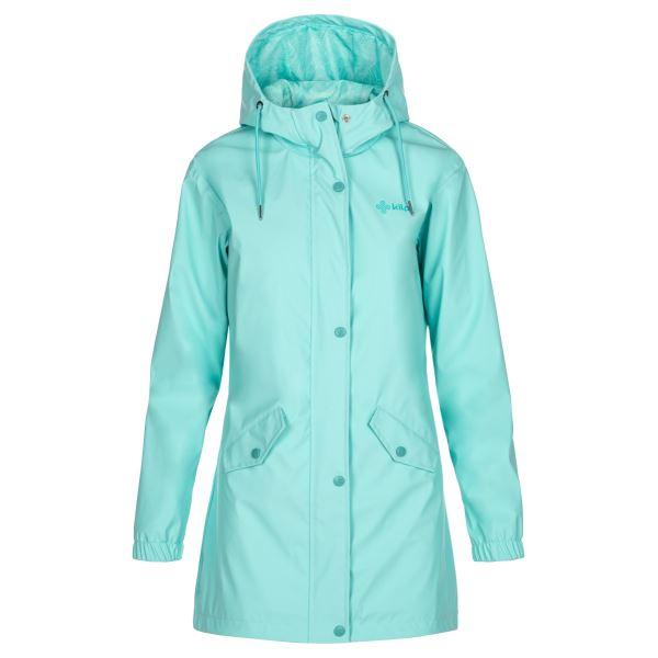 Dámský kabát KILPI RAINA-W tyrkysová