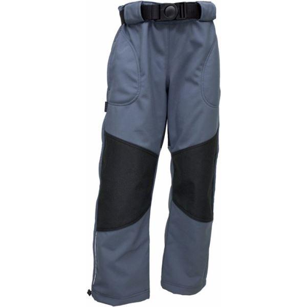 Dětské softshellové kalhoty Fantom s cordurou šedé