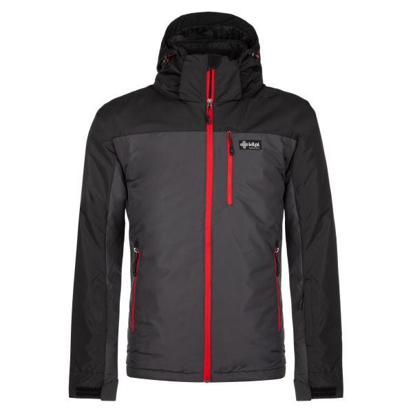 Pánská zimní lyžařská bunda KILPI FLIP-M tmavě šedá