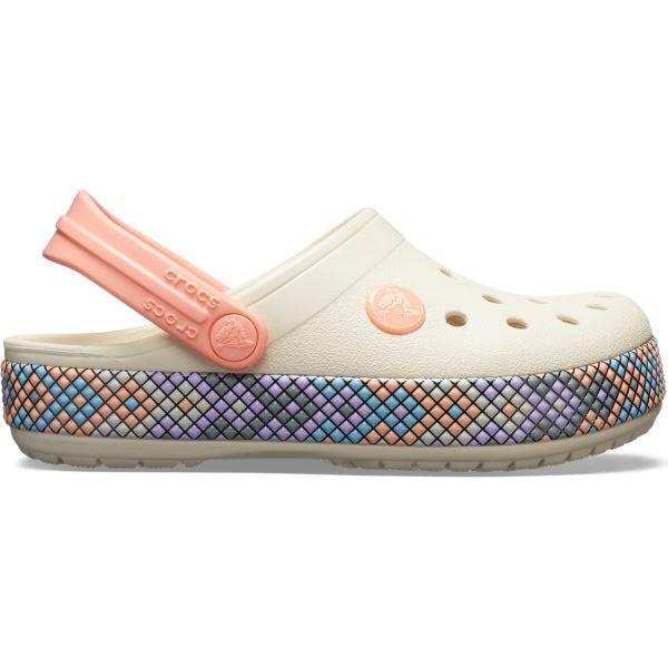 Dětské boty Crocs CROCBAND GALLERY Clog světle žlutá/melounově růžová