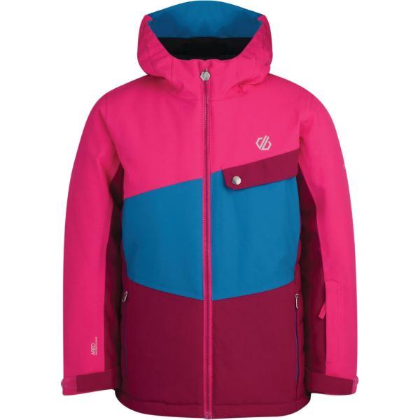 Dětská zimní bunda Dare2b WREST růžová/modrá