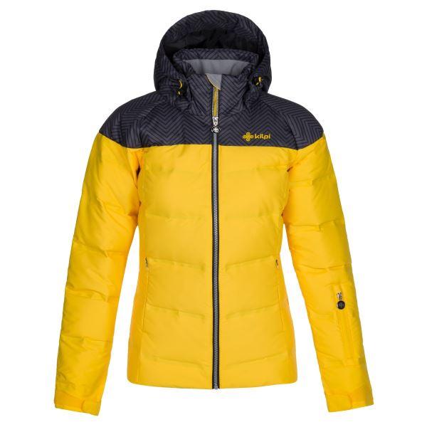 Dámská zimní péřová bunda KILPI BUFFY-W žlutá