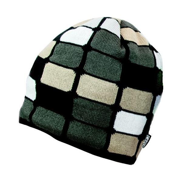 Pánská zimní čepice CAPU 1634 hnědá/černá