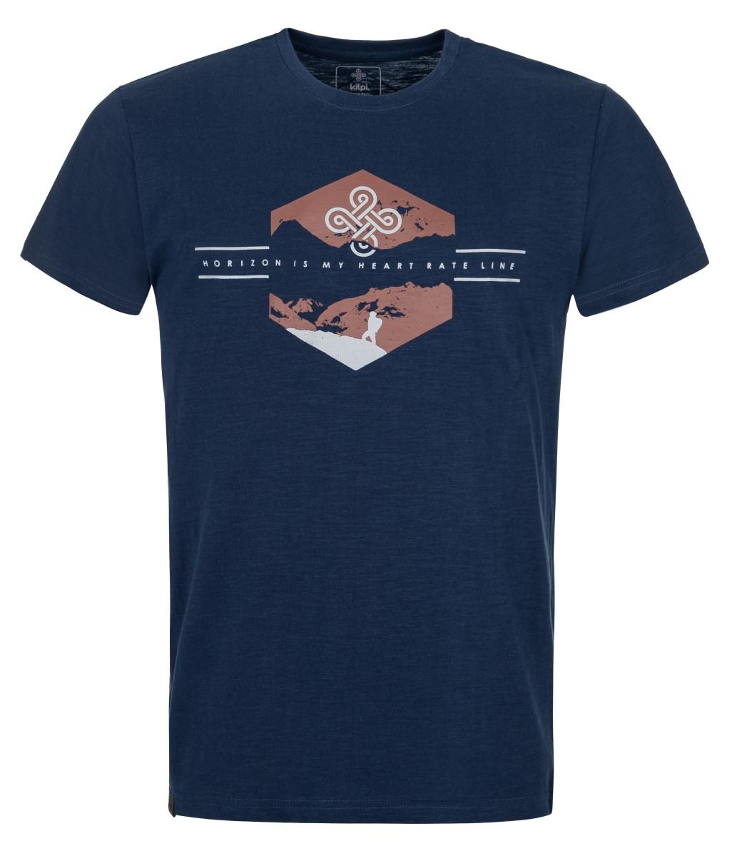 Levně Pánské bavlněné tričko kilpi ferne-m tmavě modrá m