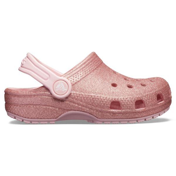Dětské boty Crocs CLASSIC GLITTER růžová