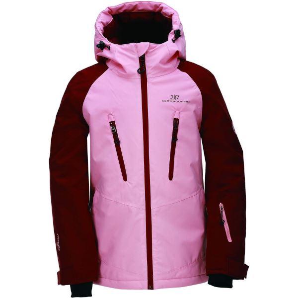 Dětská zimní lyžařská bunda 2117 LAMMHULT korálově růžová