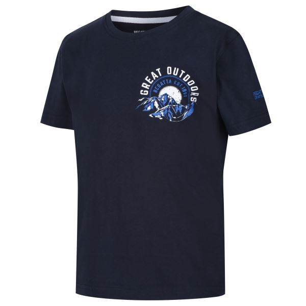 Dětské tričko Regatta BOSLEY II tmavě modrá/bílá