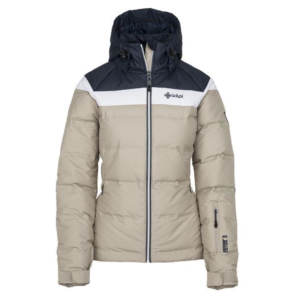 Dámská zimní péřová bunda KILPI SYNTHIA-W béžová