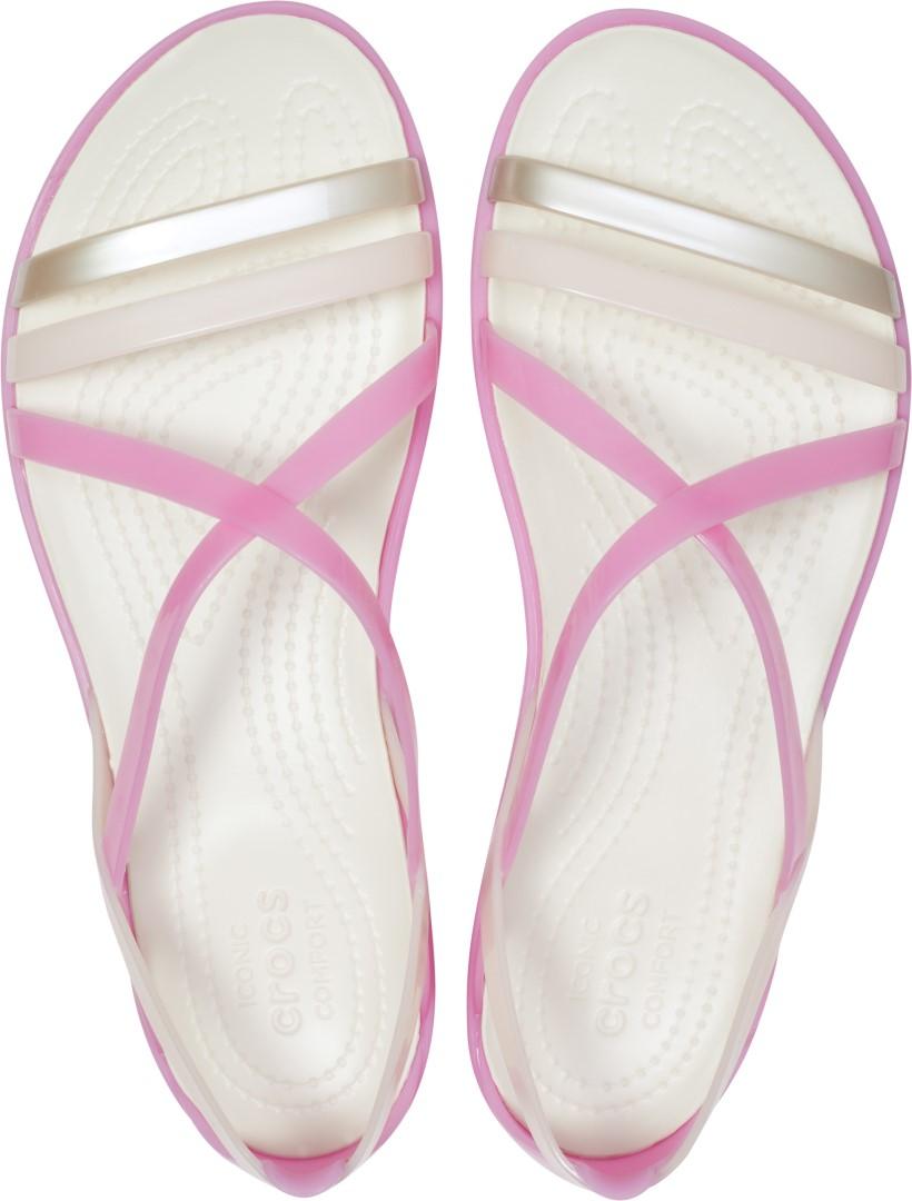cf6f733a5b09 Dámské sandály Crocs Isabella Strappy Sandal růžová bílá