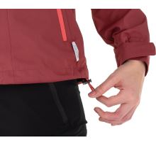 Dámská bunda KILPI ORTLER-W tmavě červená (nadměrná velikost)